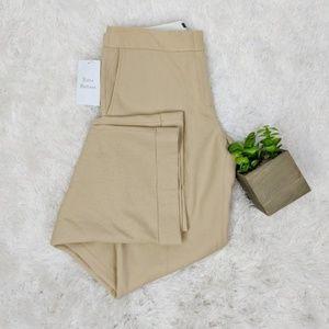 J.CREW tan wool cuffed trouser wide leg tall 0887